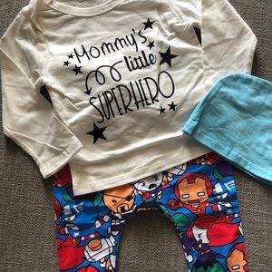 Other - Super Baby Pajamas- Superhero Pajamas- Baby PJs-